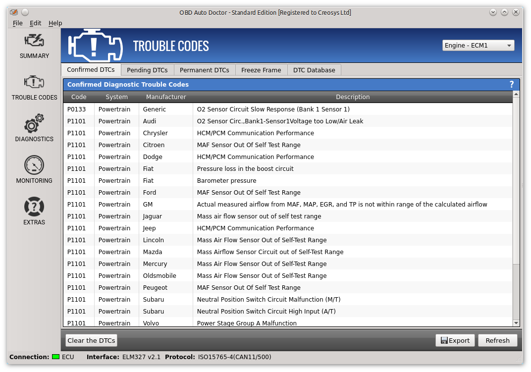 OBD-II diagnostic software for Windows, Mac and Linux | OBD Auto Doctor