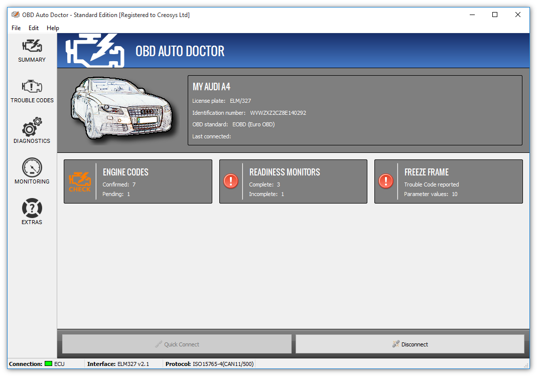 Click to view OBD Auto Doctor 3.4.0 screenshot